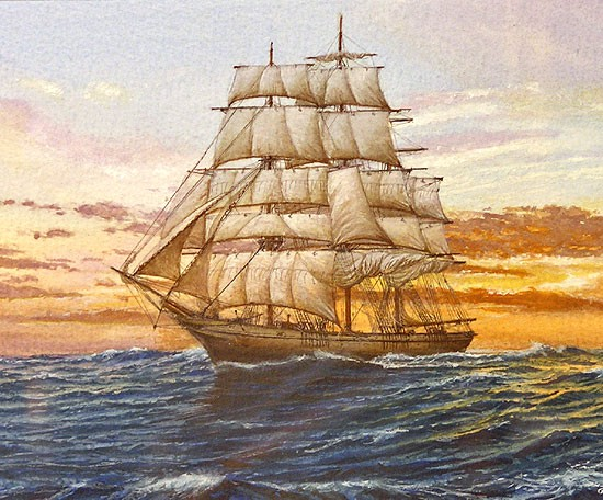 Clipper Ariel tall ship plans sail ship blueprints