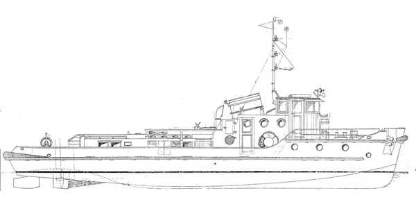 free scale model plans river tug