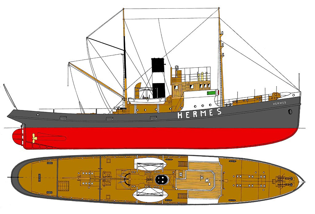 Hermes Steam tugboat plans download