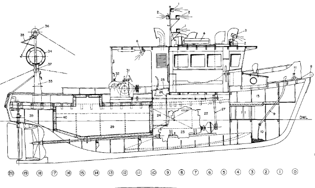 Fishing Boat Plans / Model Ship Plans