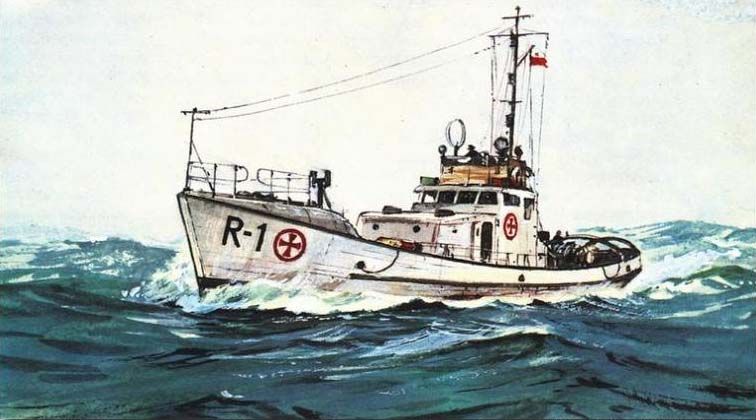 Polish Rescue Boat R-33 model plans