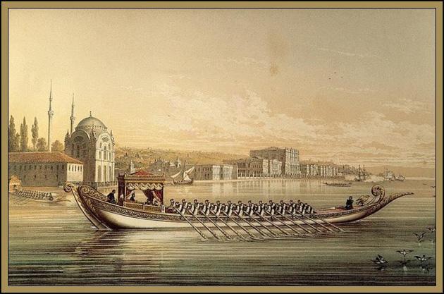 Ottoman Emperial Caique Plans Saltanat Kayığı Planları
