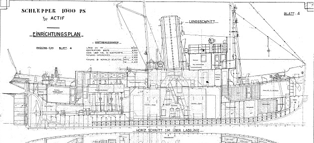 Actif 1939 french tugboat mine layer plans