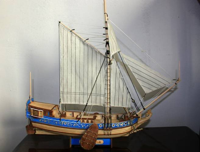 wooden-model-ship-Holland-Yacht-plans