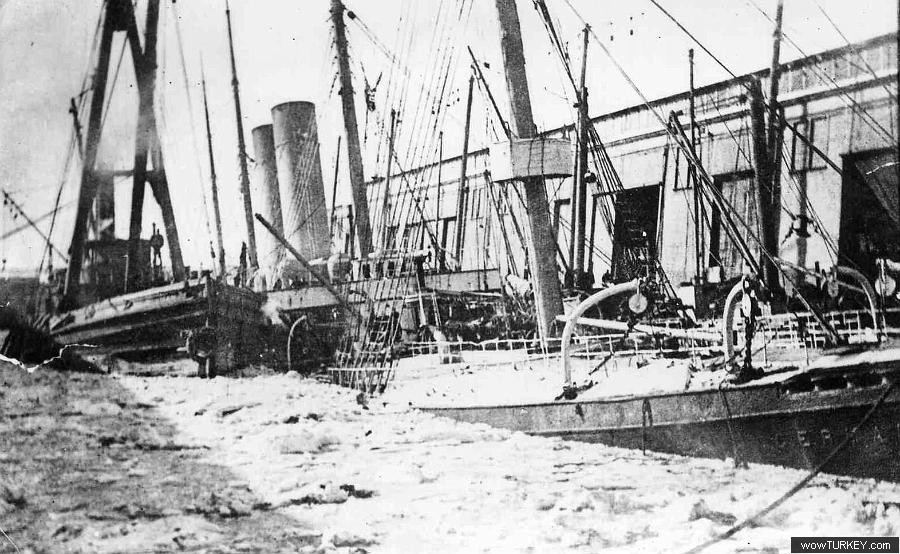 Germanic sunk at new york harbor