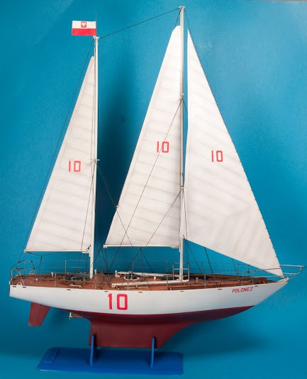 yacht polonez scale model plans
