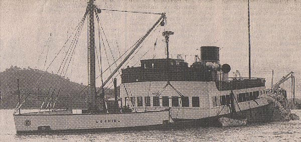 lochiel sank after hitting rocks 1960
