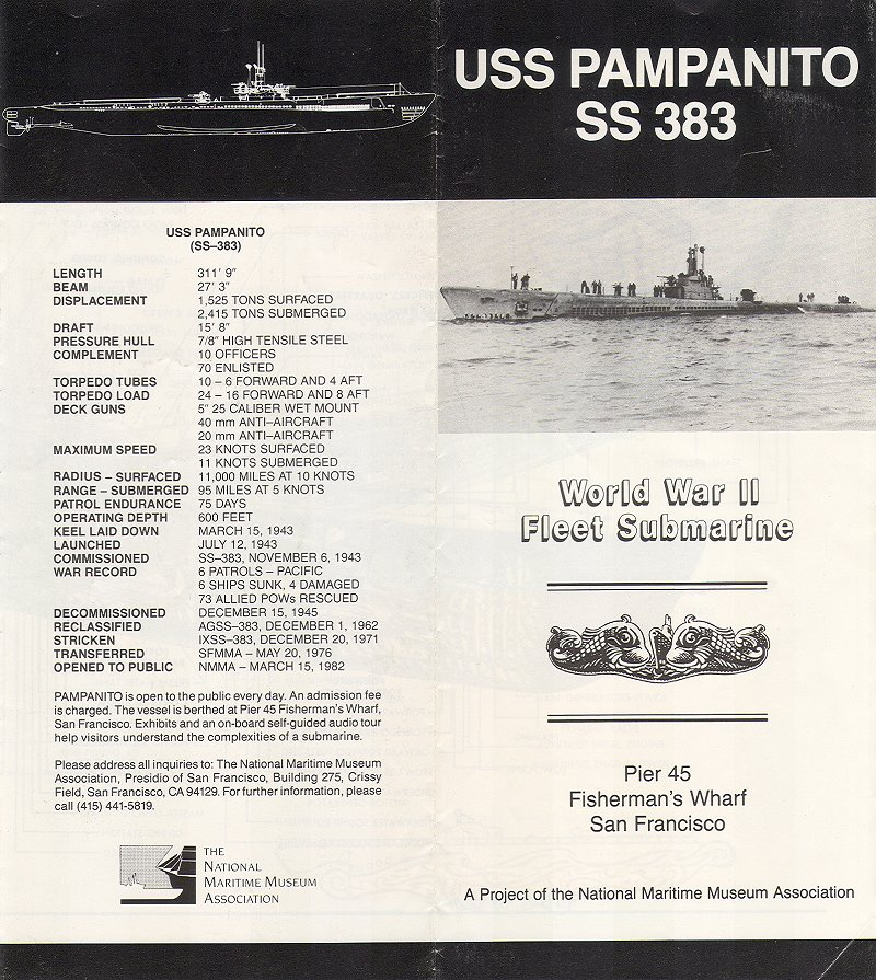USS pampanito brochure