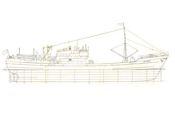 russian delfin class fishing vessel cuba fleet model plans