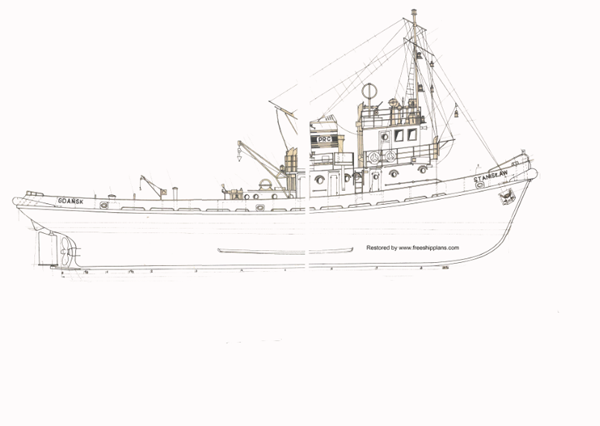 hobby stanislaw model tug plans maritime ship