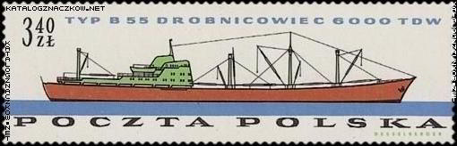 b55 cargo ship stamp poland