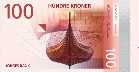 2 new norwegian bank note