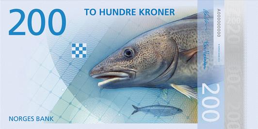 3 norwegian bank note design with fish