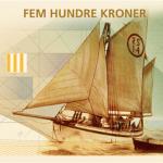 4 norwegian sea theme bank notes
