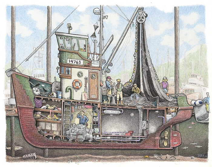 fishing boat drawings tom crestodina