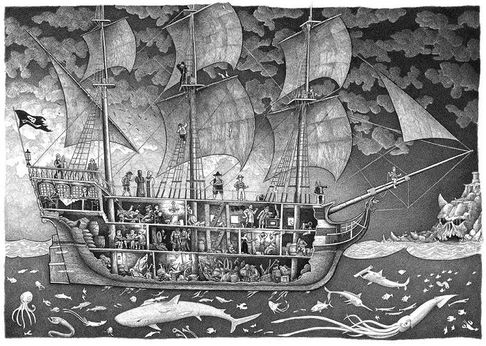 pirate ship drawing tom crestodina