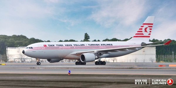 turkish airlines a330 200 vintage livery kushimoto