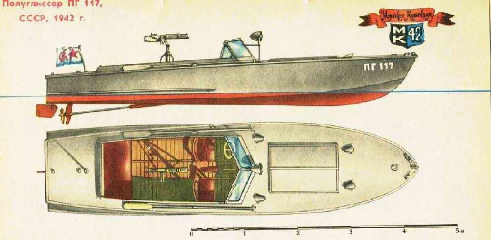 Soviet armed motor boat PG 117 - Free Ship Plans